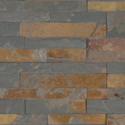 MS International M-Series Rockmount Stacked Stone Mini, Gold Rush Mini Wall Coverings