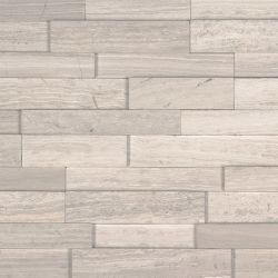 MS International M-Series Rockmount Stacked Stone 3D Mini, White Oak 3D Mini Wall Coverings