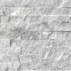 MS International Rockmount Stacked Stone, Arabescato Carrara Wall Coverings