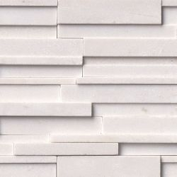 MS International Rockmount Stacked Stone 3D, Arctic White 3D Wall Coverings