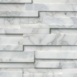 MS International Rockmount Stacked Stone 3D, Calacatta Cressa 3D Wall Coverings