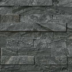 MS International Rockmount Stacked Stone, Glacial Black Wall Coverings