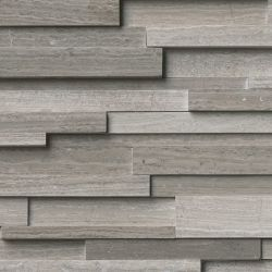 MS International Rockmount Stacked Stone 3D, Gray Oak 3D Wall Coverings