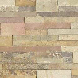 MS International Rockmount Stacked Stone, Sedona Fossil Wall Coverings