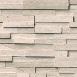 MS International Rockmount Stacked Stone 3D, White Oak 3D Wall Coverings