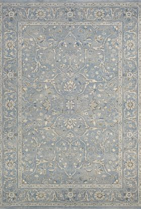 Couristan Sultan Treasures Floral Yazd Slate Blue