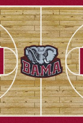 Milliken College Home Court Alabama Tan/Crimson/Gray