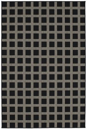 Karastan Rugs Design Concepts Woolston Plaid Domino Black