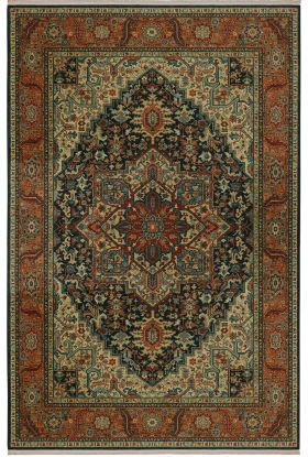 "Karastan Rugs Sovereign Maharajah Navy 4'3"" x 6'0"""