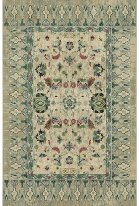 "Karastan Rugs Meraki French Valley Willow Grey by Patina Vie Grey 2'0"" x 3'0"" Scatter"