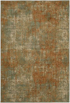 "Karastan Rugs Spice Market Luciano Spice by Virginia Langley Aquamarine 5'3"" x 7'10"""