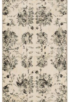 "Karastan Rugs Touchstone Chanteuse Charcoal by Patina Vie Natural Cotton 2'4"" x 7'10"" Runner"