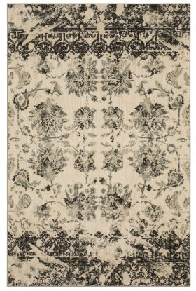 Karastan Rugs Touchstone Chanteuse Charcoal by Patina Vie Natural Cotton