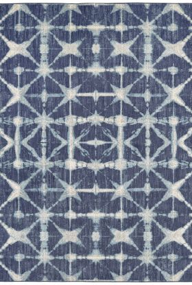 Karastan Rugs Expressions Triangle Accordion Indigo by Scott Living Indigo