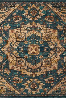 Nourison 2020 Traditional, Rustic/Vintage, null Teal