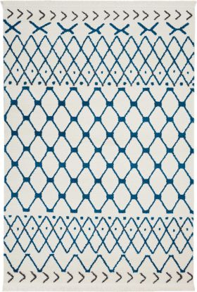 Nourison Kamala Modern/Contemporary, White Blue