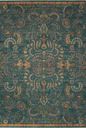 Nourison 2020 Traditional, Rustic/Vintage, Teal