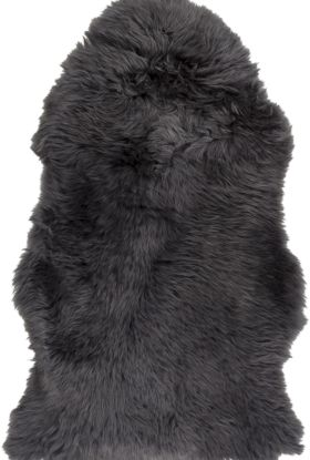 Surya Sheepskin Shs-9602 Charcoal