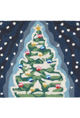 Liora Manne Frontporch Xmas Tree Navy