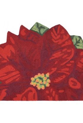 Liora Manne Frontporch Poinsettia Red