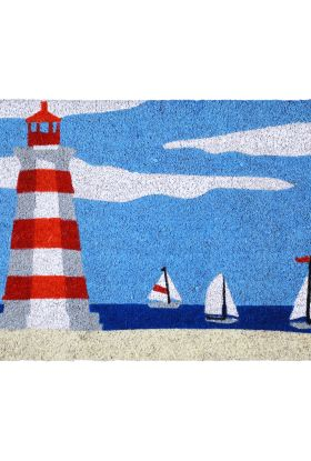 "Liora Manne Natura Lighthouse Blue 1'6"" x 2'6"""