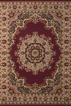 United Weavers Dallas Floral/Contemporary Burgundy