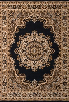 United Weavers Dallas Floral/Contemporary Black