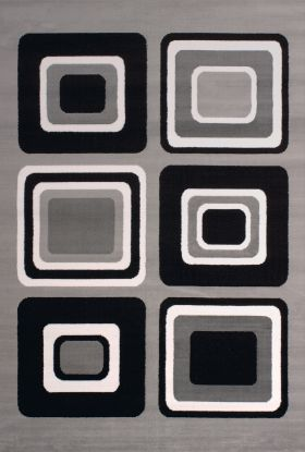 United Weavers Dallas Geometric/Contemporary Silver