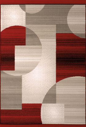 United Weavers Dallas Geometric/Contemporary Red