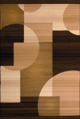 United Weavers Dallas Geometric/Contemporary Brown