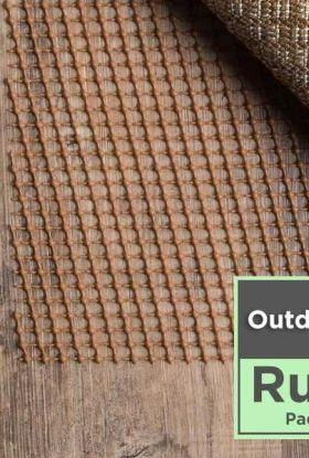 Outdoor Area Rug Pad Pre-packaged