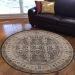 "Radici USA Garda 3812 Brown 5'0"" x 5'0"" Round Room Scene"