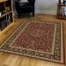 "Radici USA Noble 1318 Burgundy 5'5"" x 8'3"" Room Scene"