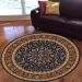 "Radici USA Noble 1318 Navy 7'10"" x 7'10"" Round Room Scene"