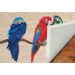 Liora Manne Frontporch Parrots Natural Room Scene