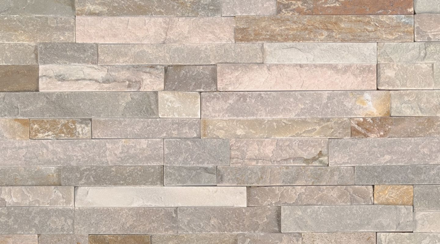 MS International M-Series Rockmount Stacked Stone Mini, Golden Honey Mini Wall Coverings
