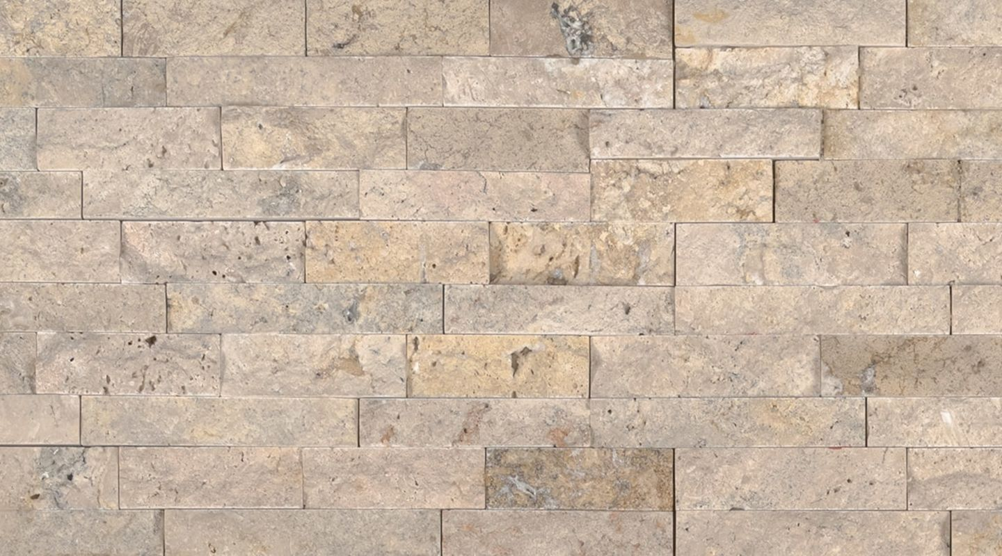 MS International M-Series Rockmount Stacked Stone Mini, Roman Beige Mini Wall Coverings