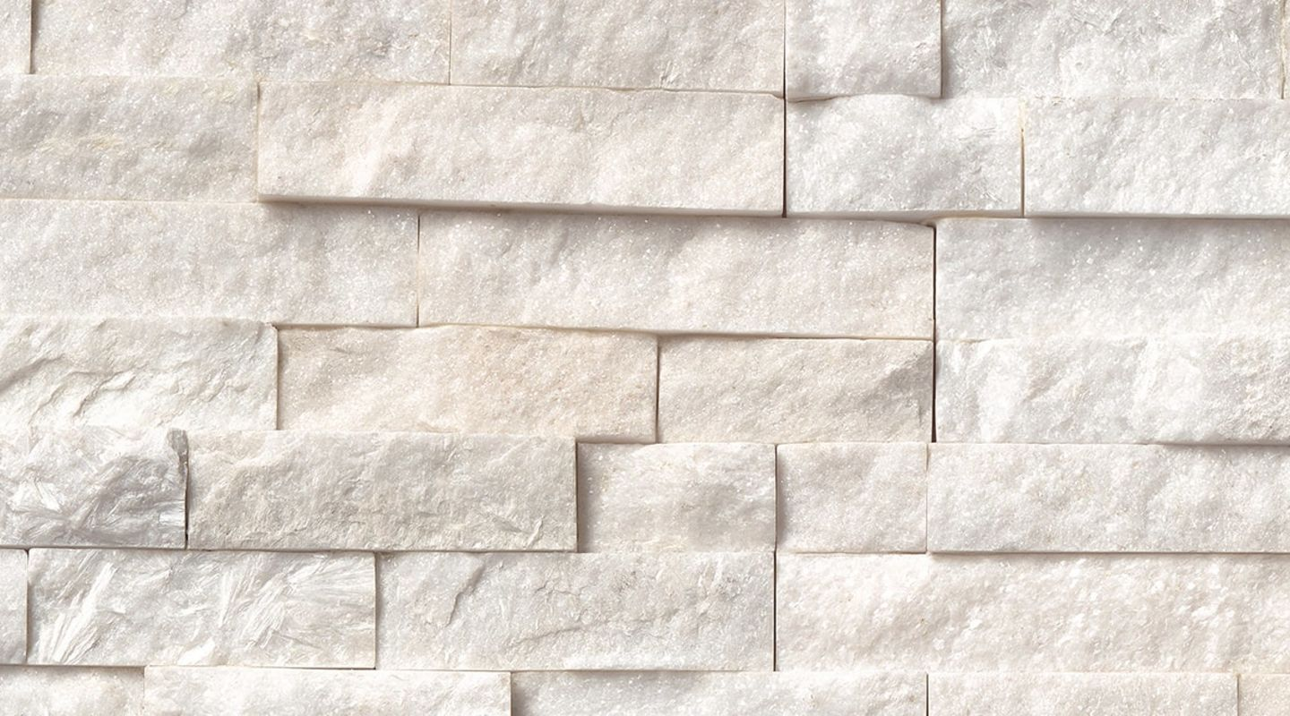MS International Rockmount Stacked Stone, Arctic White Wall Coverings