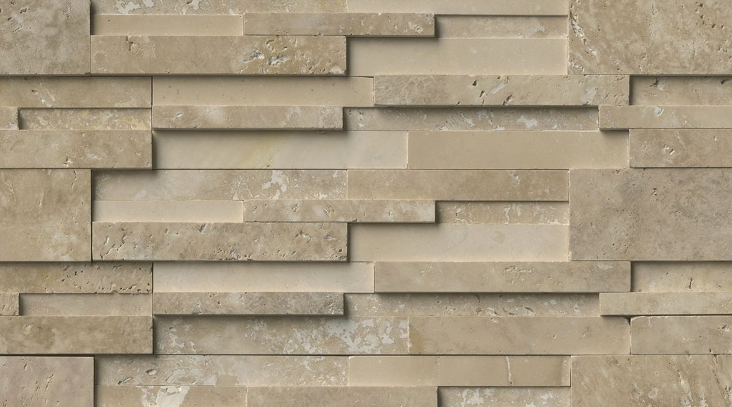 MS International Rockmount Stacked Stone 3D, Durango Cream 3D Wall Coverings