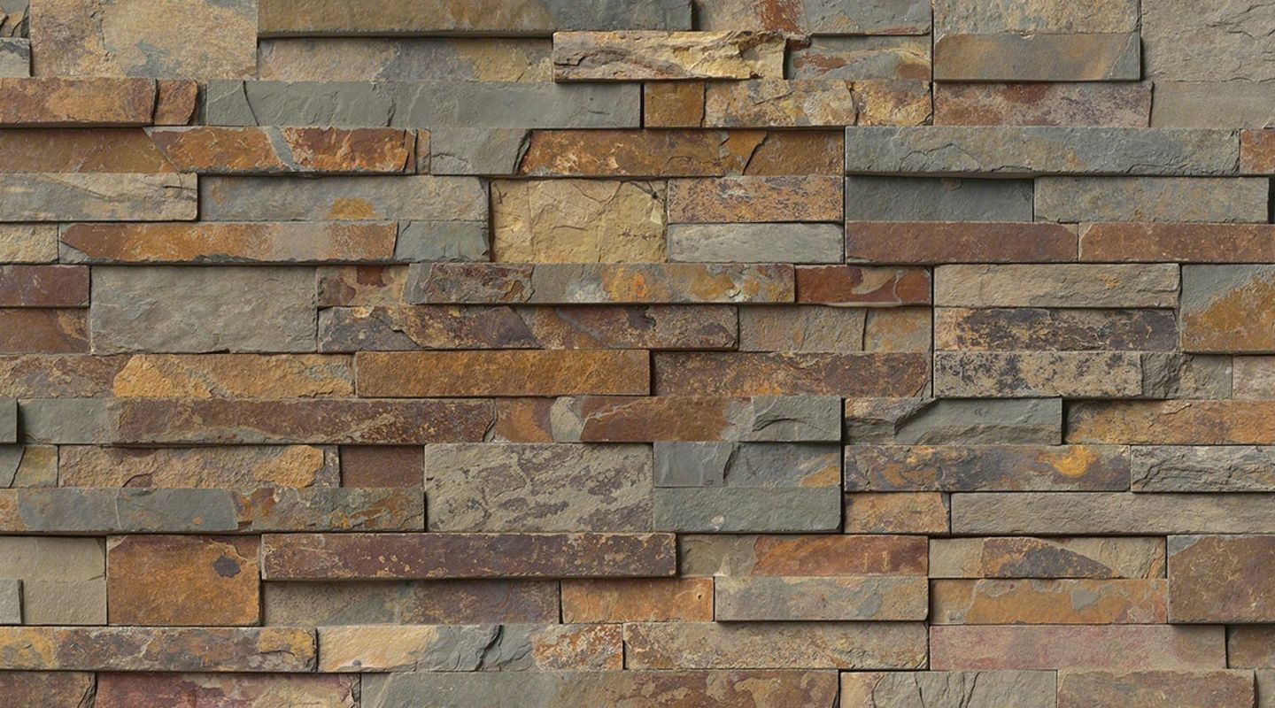 MS International Rockmount Stacked Stone, Gold Rush Wall Coverings