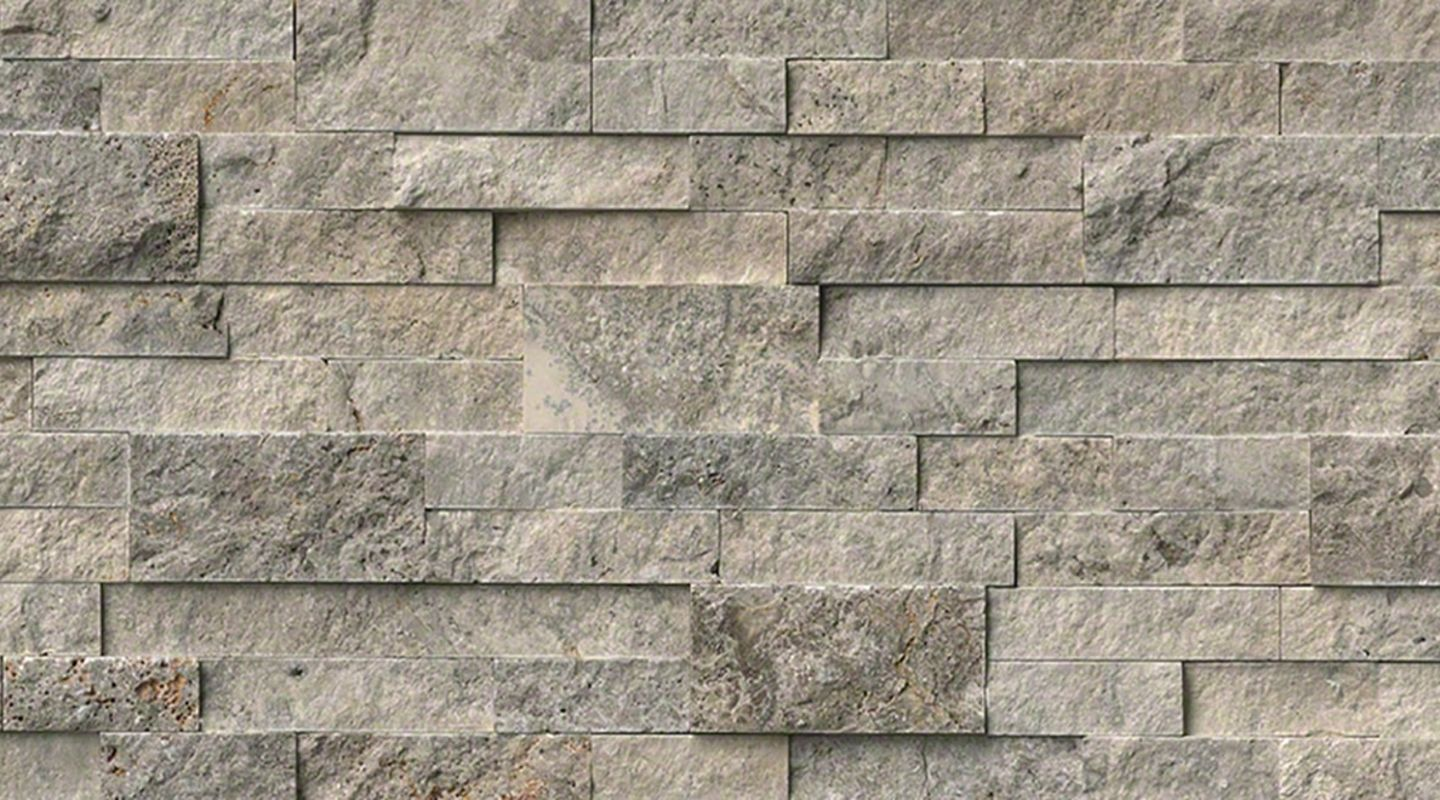 MS International Rockmount Stacked Stone, Silver Travertine Wall Coverings