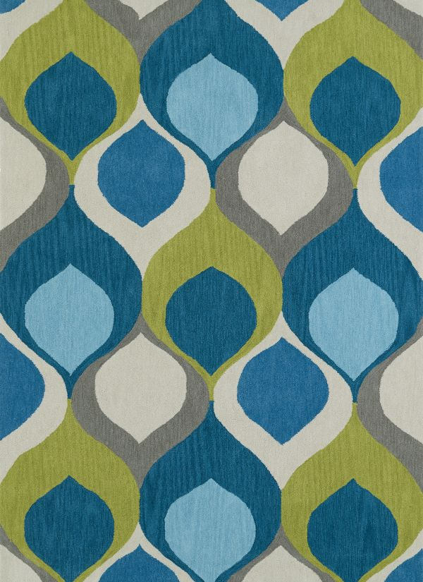 "Dalyn Aloft Al14 Teal 3'6"" x 5'6"" Collection"