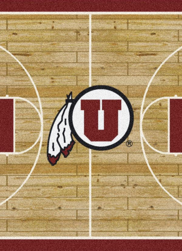 "Milliken College Home Court Utah Multi 3'10"" x 5'4"" Collection"