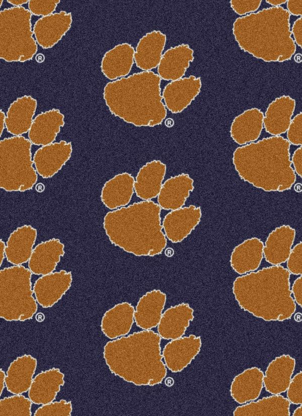 "Milliken College Repeating Clemson Multi 5'4"" x 7'8"" Collection"
