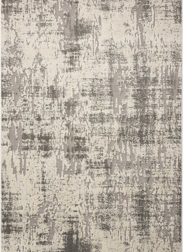 "Michael Amini Gleam Ivory/Grey 3'10"" x 5'10"" Collection"