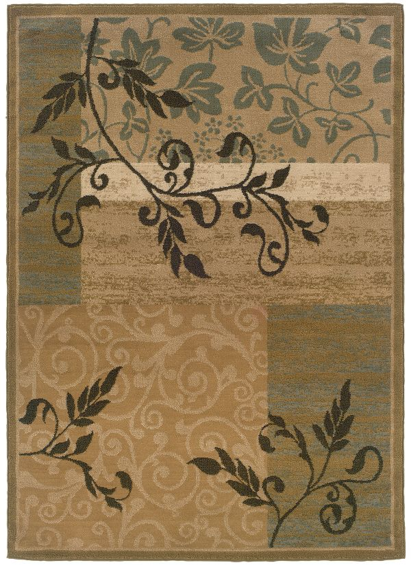 "Oriental Weavers Camden 2395c Gold 7'10"" x 10'0"" Collection"