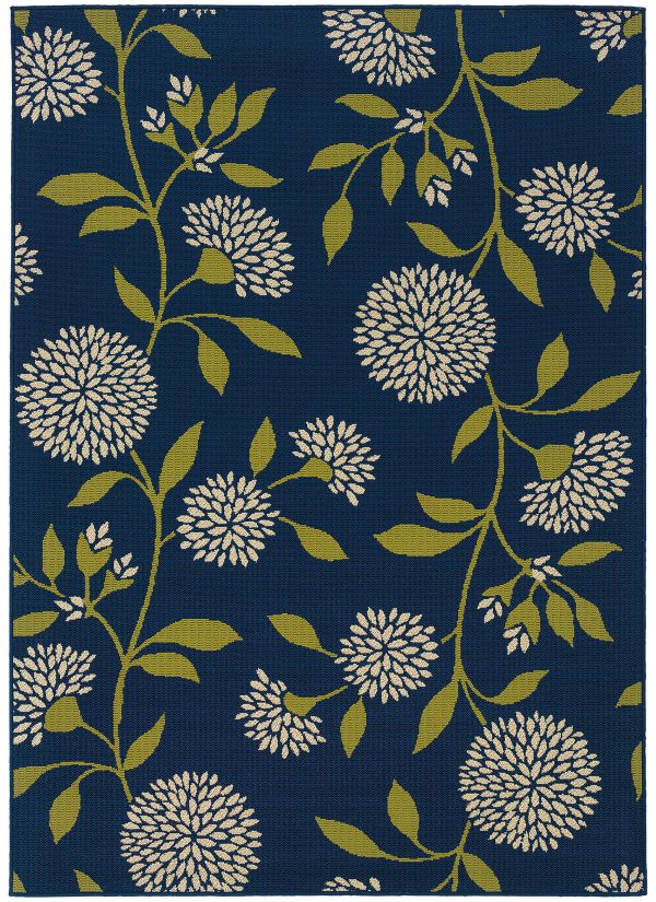 "Oriental Weavers Caspian 8327l Blue 1'9"" x 3'9"" Collection"