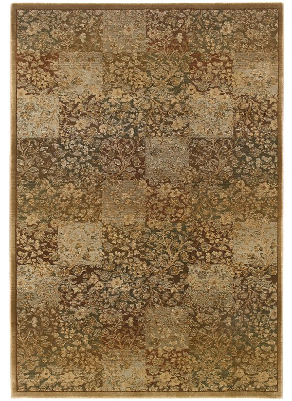 "Oriental Weavers Generations 3435y Green 2'3"" x 7'6"" Collection"