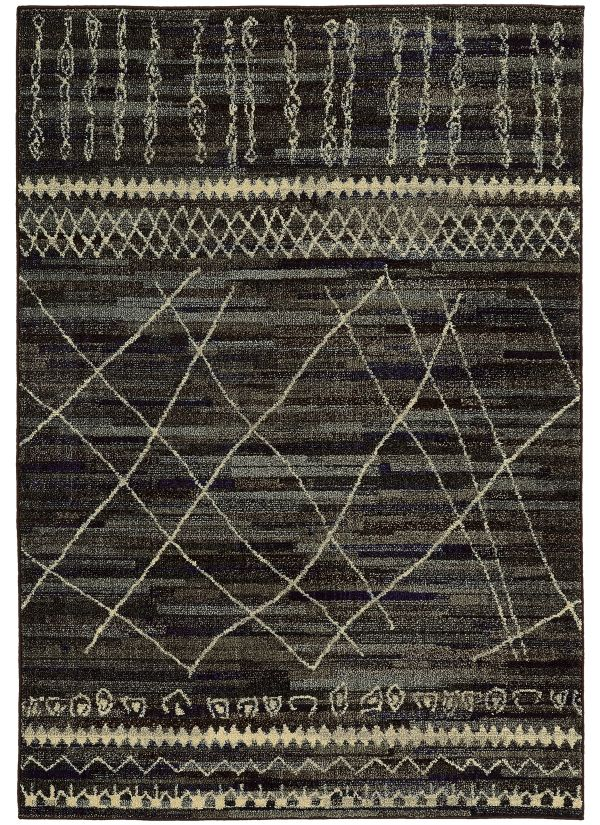 Oriental Weavers Nomad 633n Black Collection