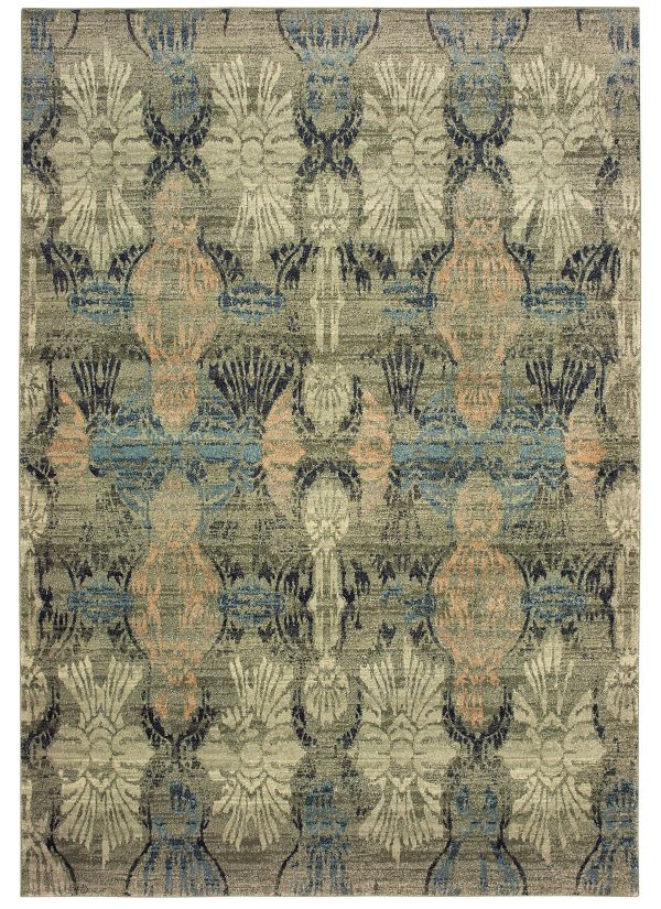 "Oriental Weavers Raleigh 2333y Ivory 5'3"" x 7'6"" Collection"